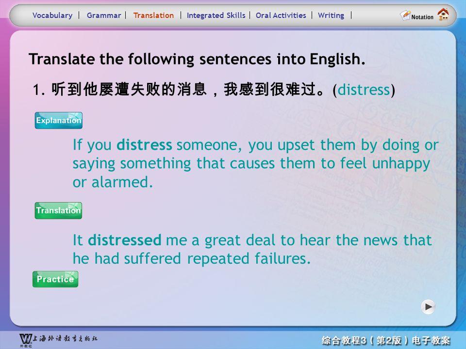 Consolidation Activities- Grammar3.3 VocabularyTranslationIntegrated SkillsOral ActivitiesWritingGrammar 3. Mr. Johnson is rich. Mr. Johnson is by no