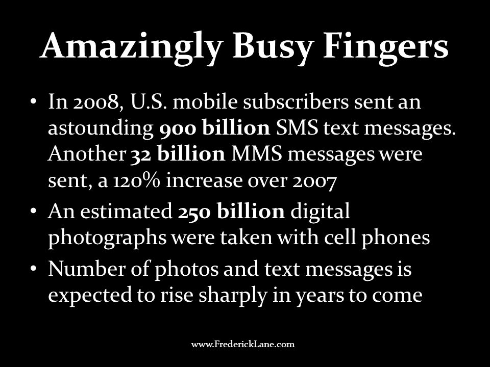 Amazingly Busy Fingers In 2008, U.S.