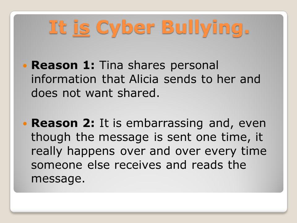 It is Cyber Bullying.