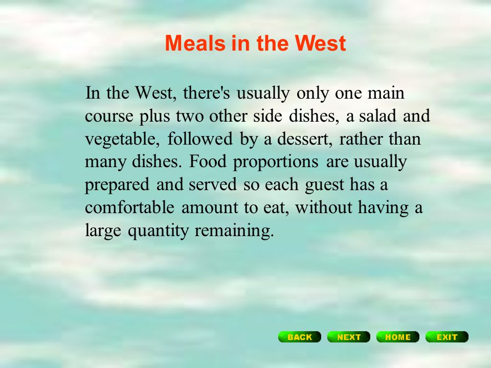 In China, when having guests, the hostess will prepare as many dishes as possible in case the guests should be hungry or rather in order to show their