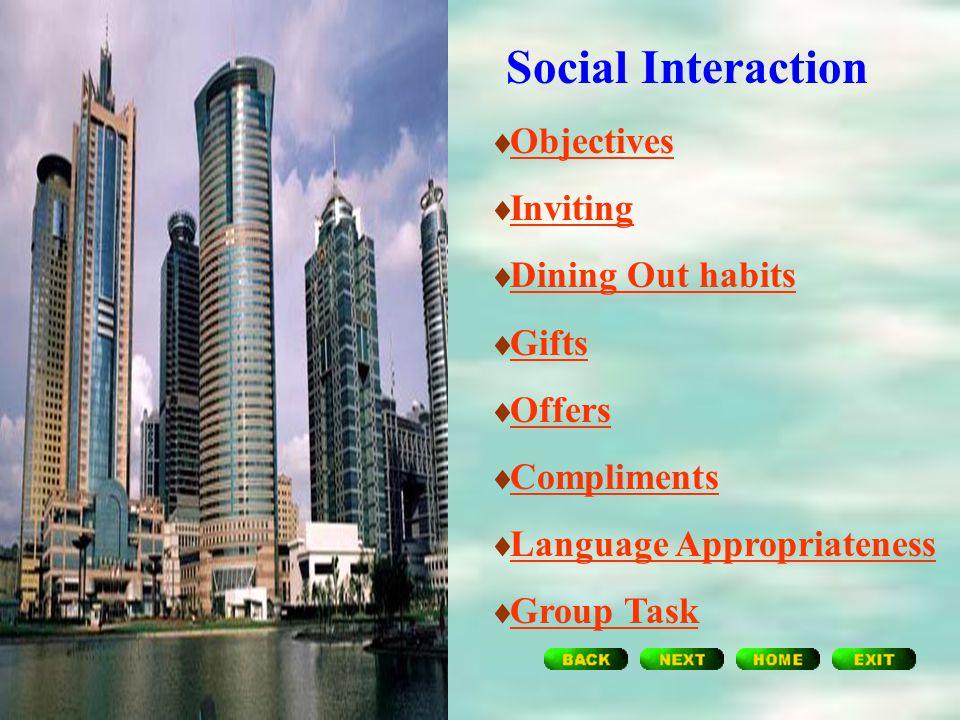 Social Interaction Unit Four