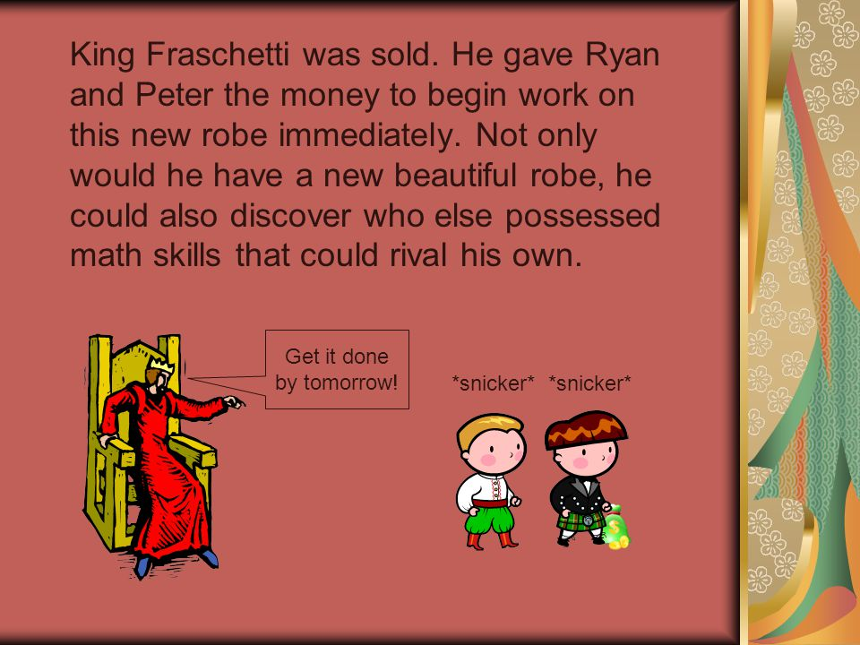 King Fraschetti was sold.