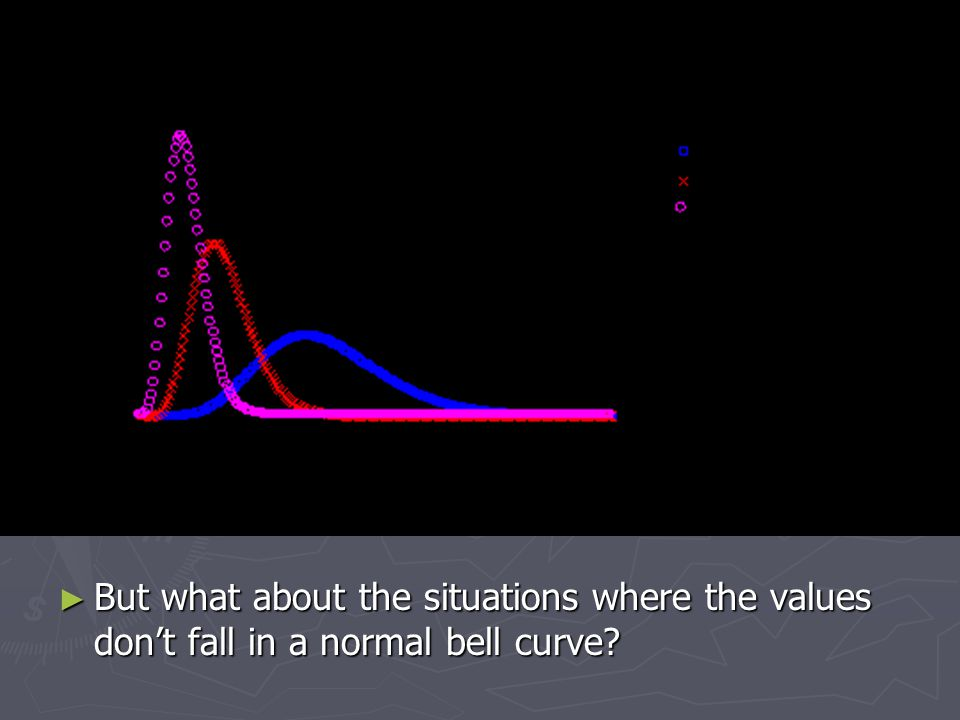 ► But what about the situations where the values don't fall in a normal bell curve
