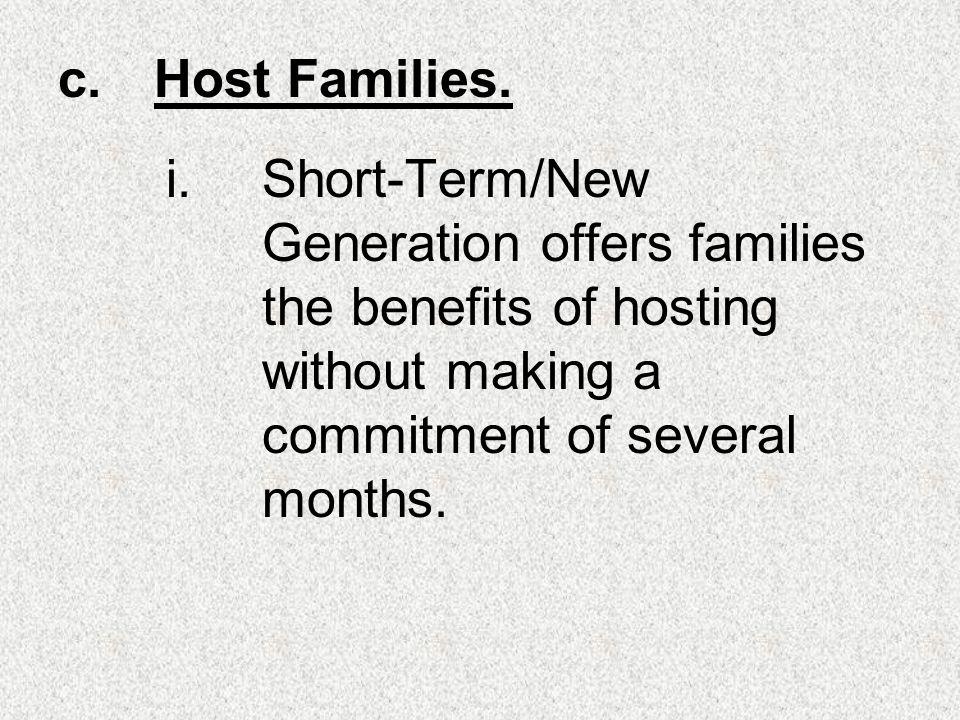 c.Host Families.