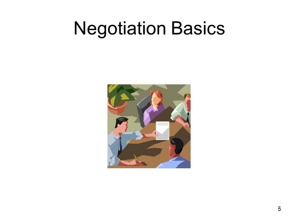 5 Negotiation Basics