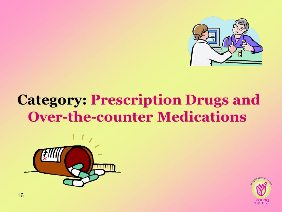 Category: Prescription Drugs and Over-the-counter Medications 16