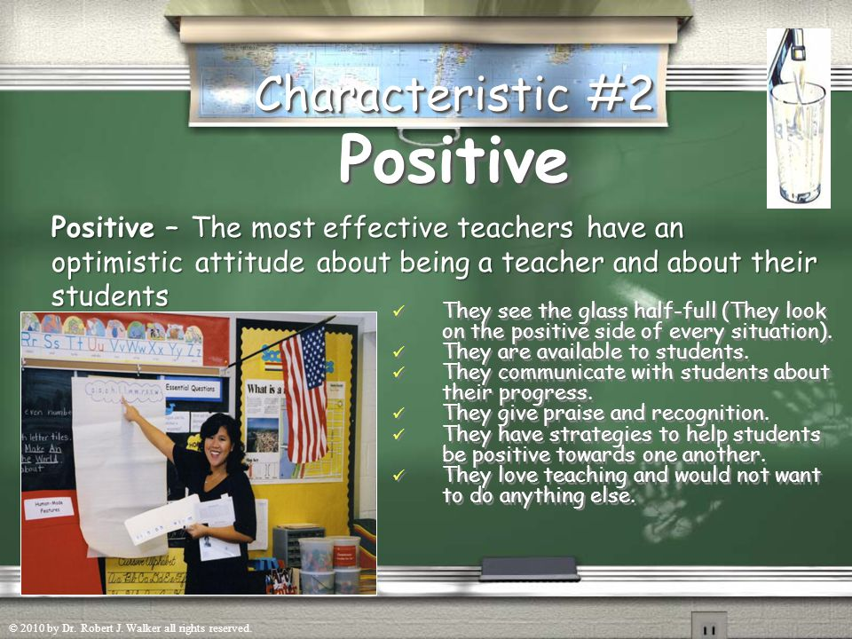 Prepared Characteristic #1 Prepared They know the subject matter and are able to teach it in a way that students can learn.