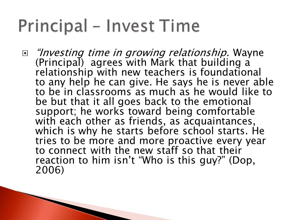  Investing time in growing relationship.