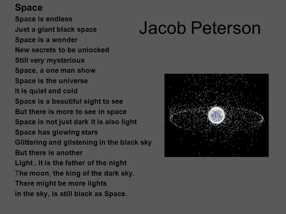 Jacob Peterson Harrison Road Street music Cars roaring down The street Cicadas chirping All around Screech, zoom, crash Bang car crash Car in pieces Dented And broken Wow What a crash Drip drip Goes the rain Thump thump Goes the hail Street music