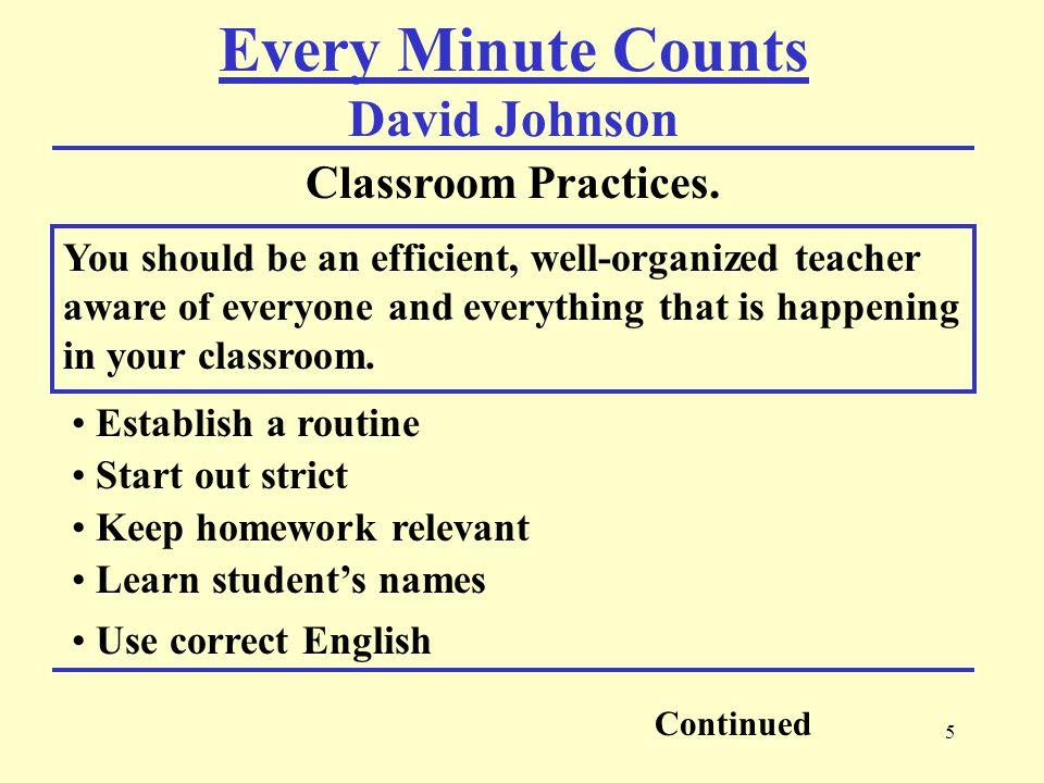 6 Classroom Practices.