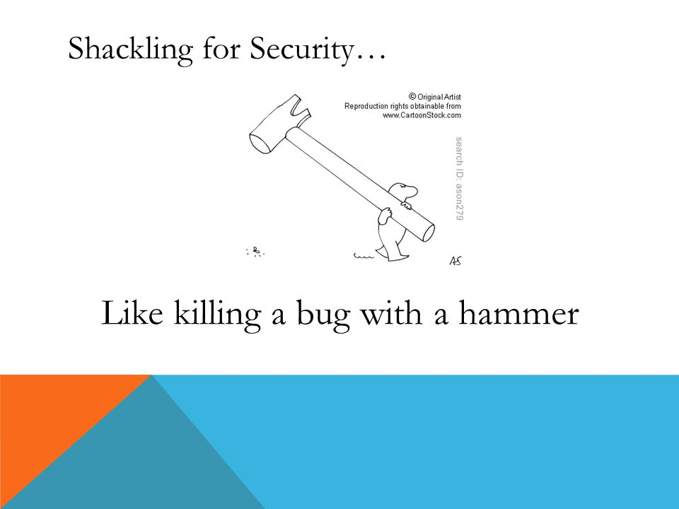 Shackling for Security… Like killing a bug with a hammer