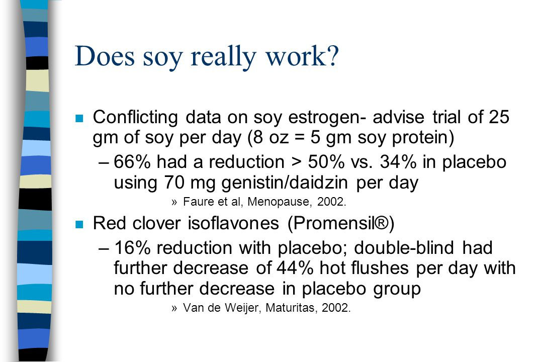 Does soy really work.