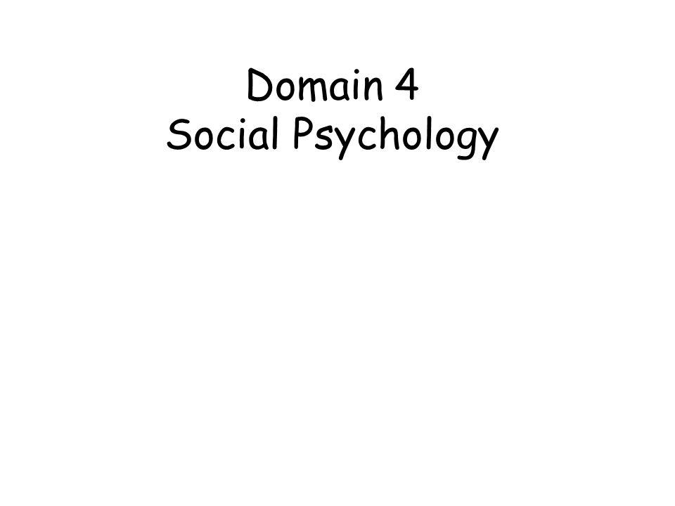Domain 4 Social Psychology