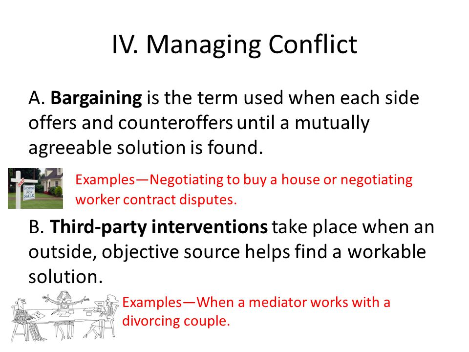 IV.Managing Conflict A.