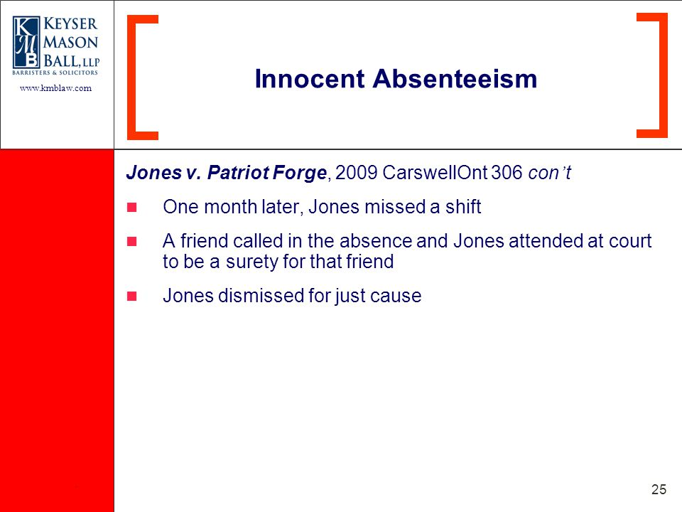 www.kmblaw.com. 25 Jones v.