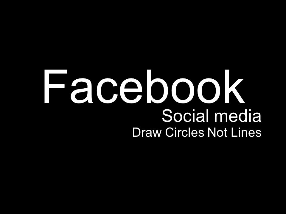 Facebook Social media Draw Circles Not Lines