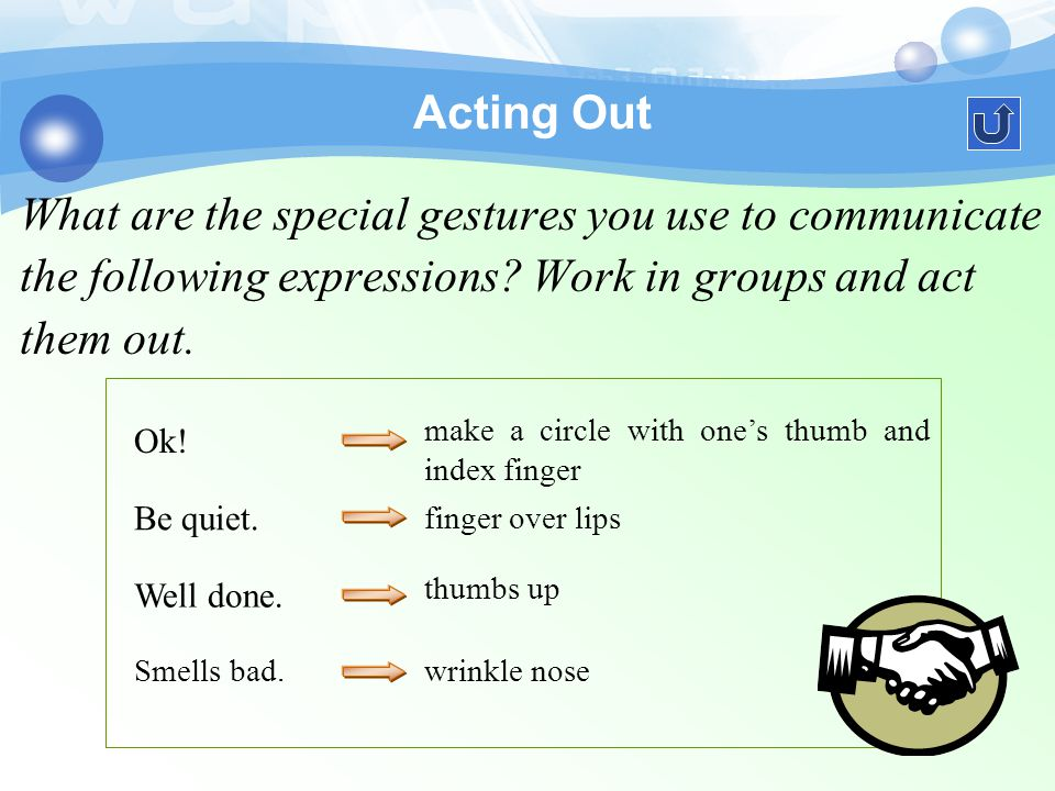 Gestures comprise a major form of nonverbal communication.