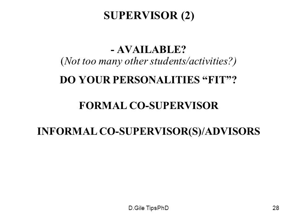 D.Gile TipsPhD28 SUPERVISOR (2) - AVAILABLE.