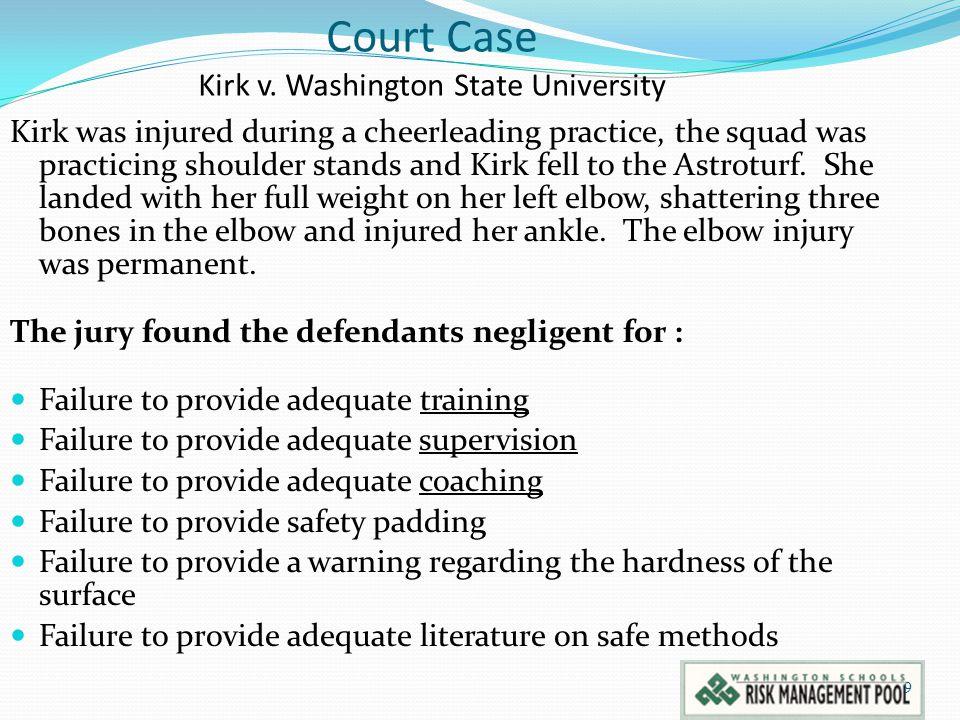 9 Court Case Kirk v.