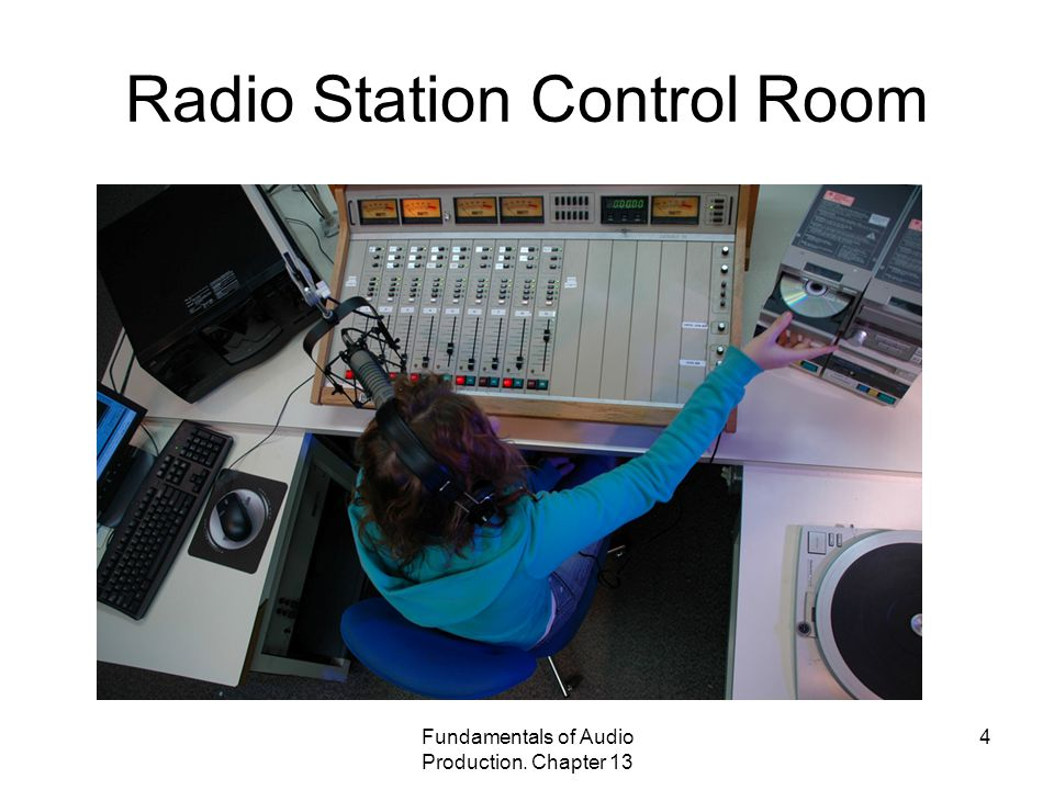 Fundamentals of Audio Production. Chapter 13 4 Radio Station Control Room