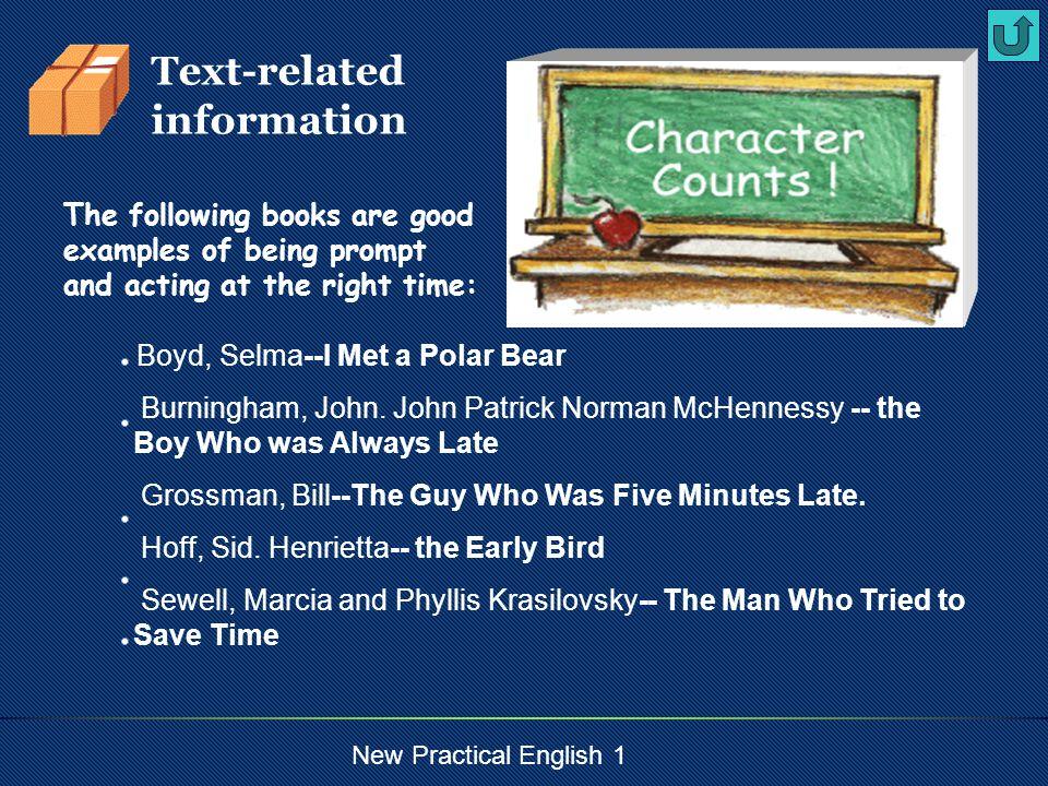 New Practical English 1 Boyd, Selma--I Met a Polar Bear Burningham, John.