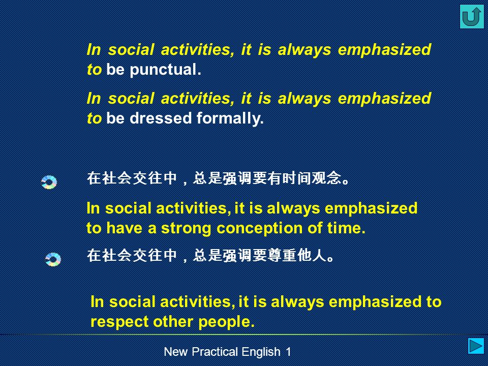 New Practical English 1 Anyone, guest or host, who is really late for a social activity, should apologize to those who have already been there.