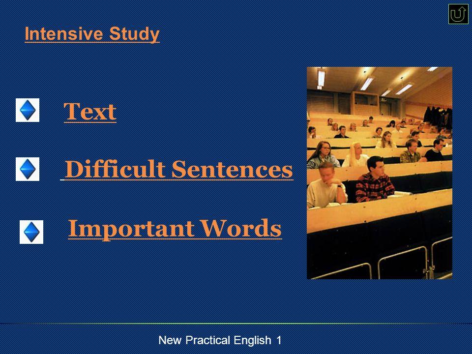 New Practical English 1 Break things down.