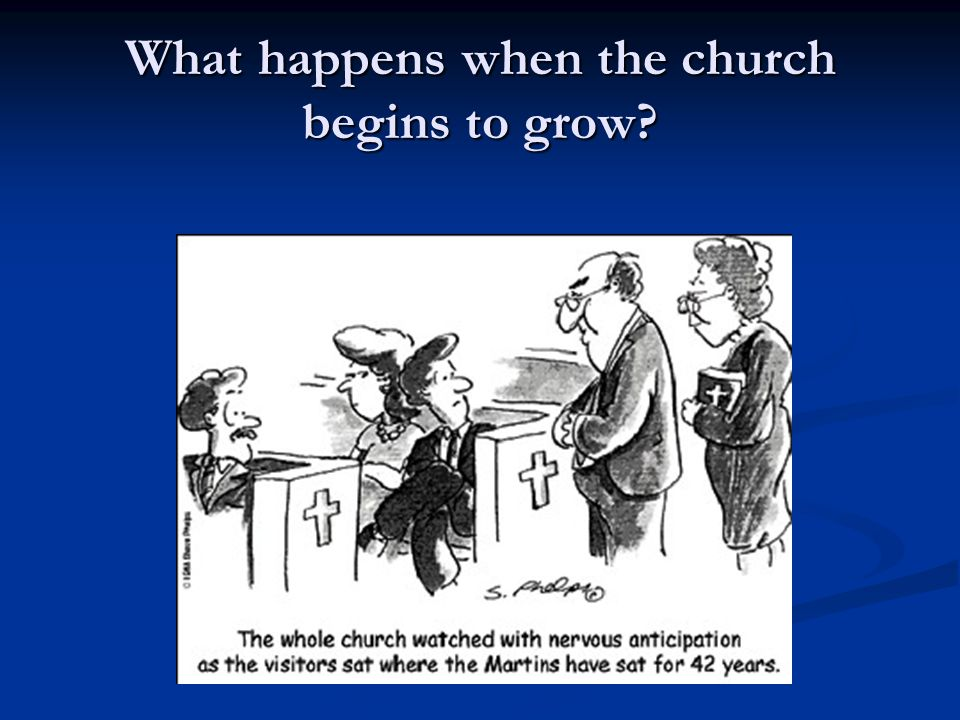 What happens when the church begins to grow?