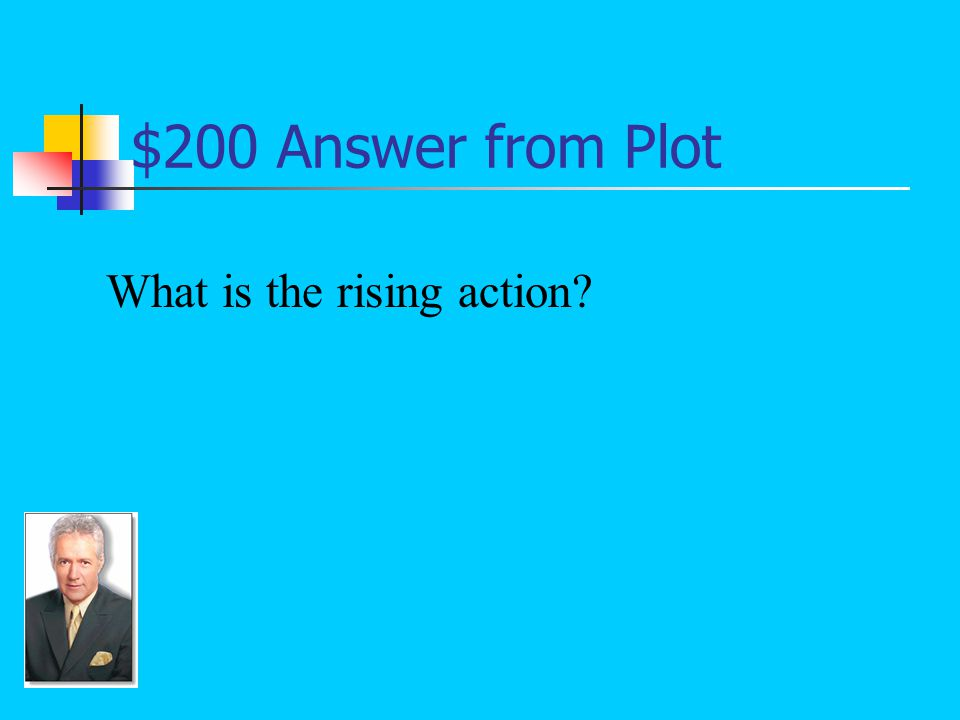 $200 Question from Plot The part of a story's plot that features the key conflicts: Now, after a series of elimination bouts, they had been informed that they were to meet each other in the division finals (Thomas 283 &284).
