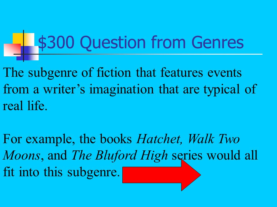 $200 Answer from Genres What is a subgenre?