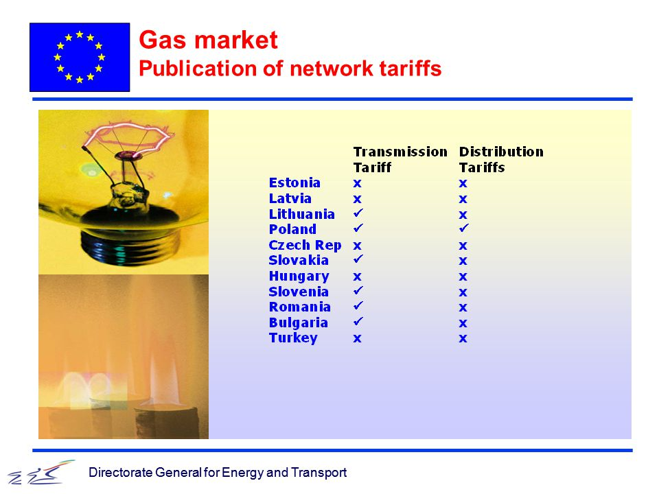 Directorate General for Energy and Transport Gas market Publication of network tariffs