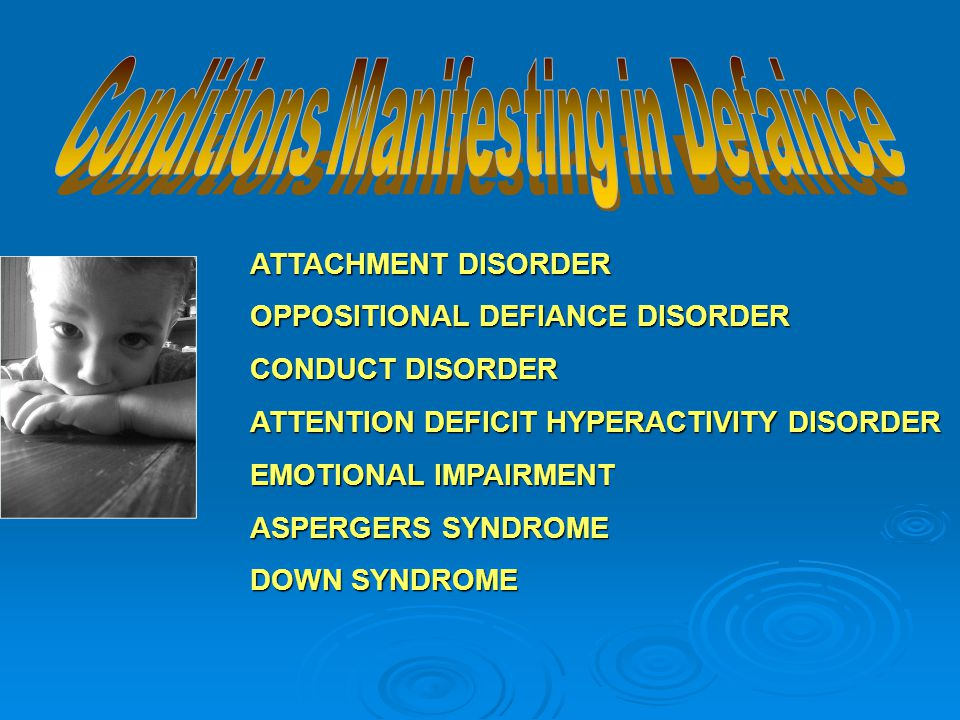 Setting Events  What are the causes of defiant behavior?