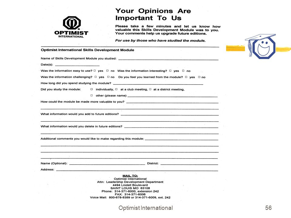 Optimist International55 LEADERSHIP STYLES AND PROFILES - CONCLUSION & Recognize your present Leadership (Behavioral) Style & Name the 4 leadership styles & Describe the attributes of each style & How to identify the leadership styles of others & How to adopt alternative leadership styles (if you choose to do so)