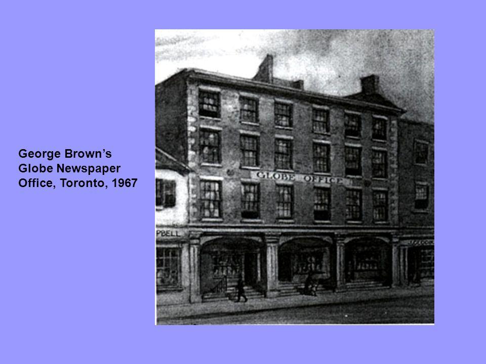 George Brown's Globe Newspaper Office, Toronto, 1967