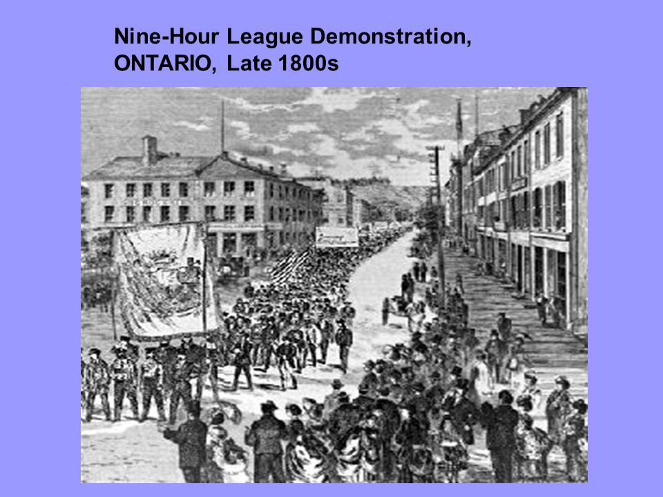 Nine-Hour League Demonstration, ONTARIO, Late 1800s