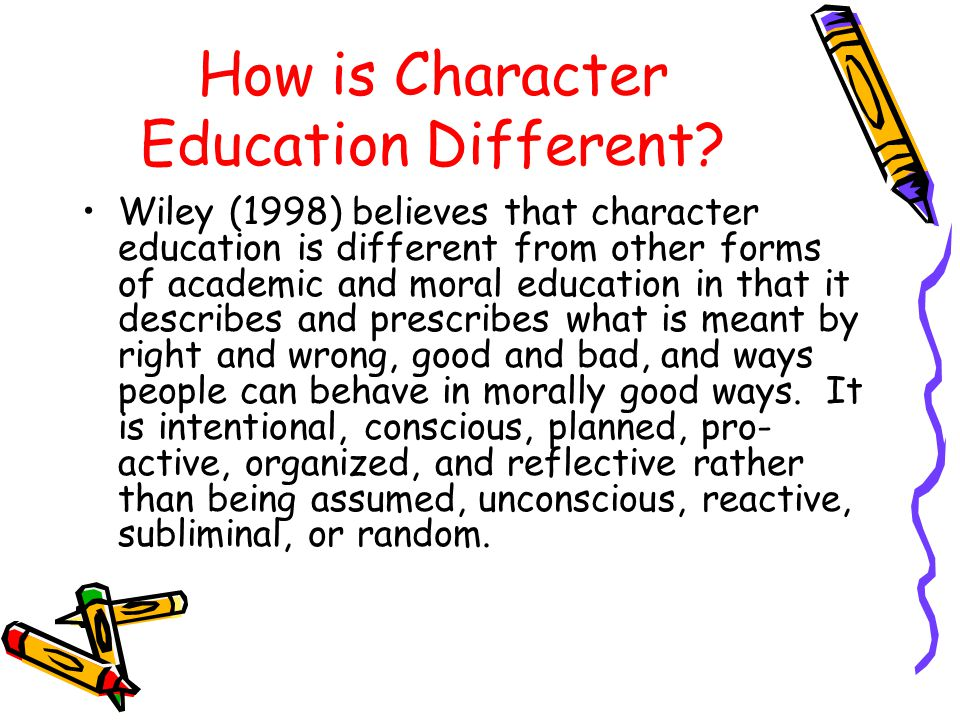 How is Character Education Different.