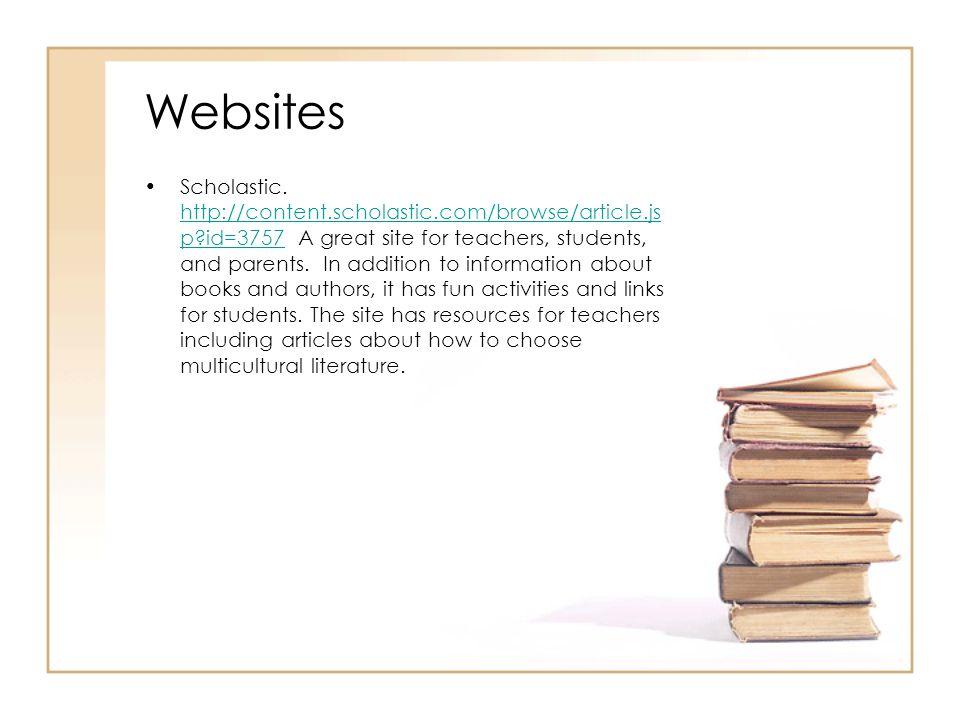 Websites Scholastic.