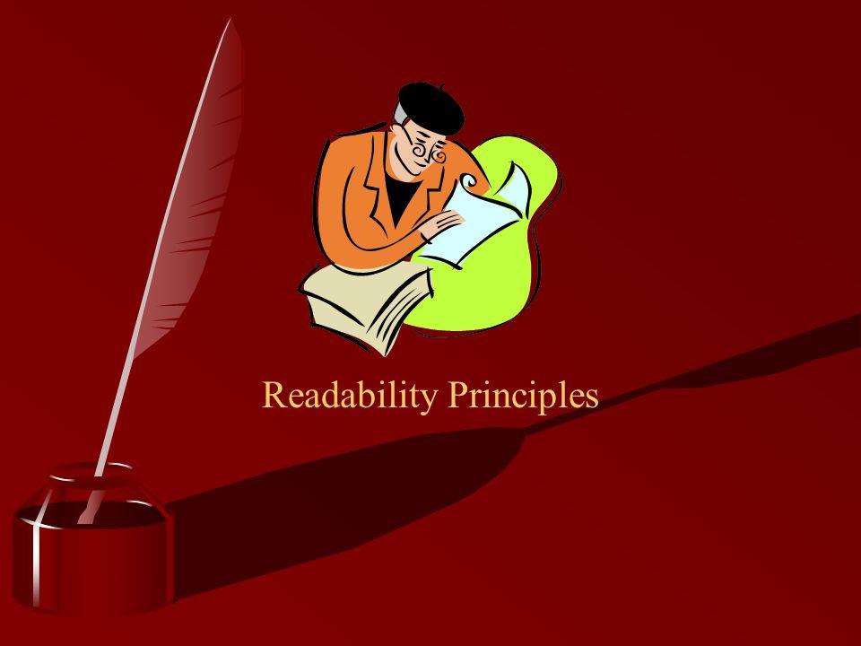 Readability Principles