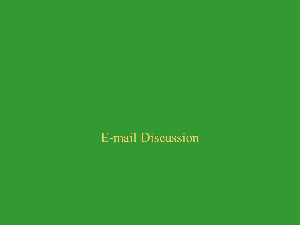 E-mail Discussion