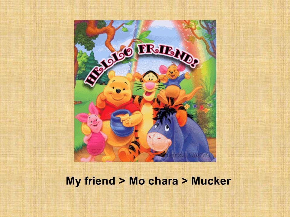 My friend > Mo chara > Mucker
