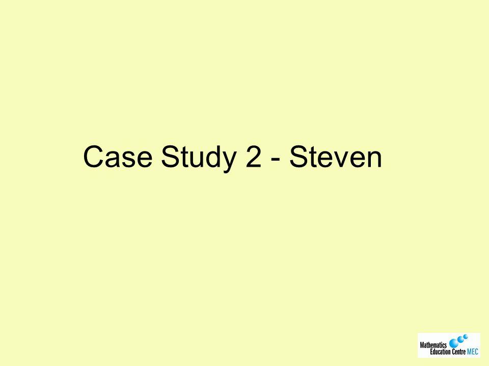 Case Study 2 - Steven