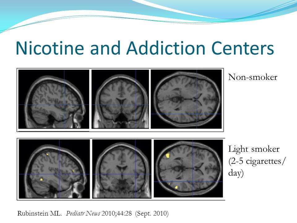 Nicotine and Addiction Centers Rubinstein ML. Pediatr News 2010;44:28 (Sept.