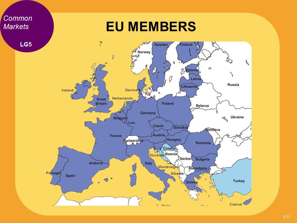 Common Markets EU MEMBERS LG5 3-55