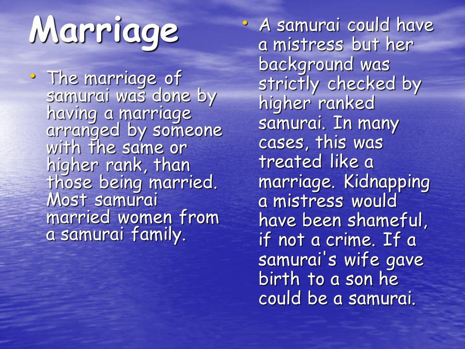 A samurai could divorce his wife.
