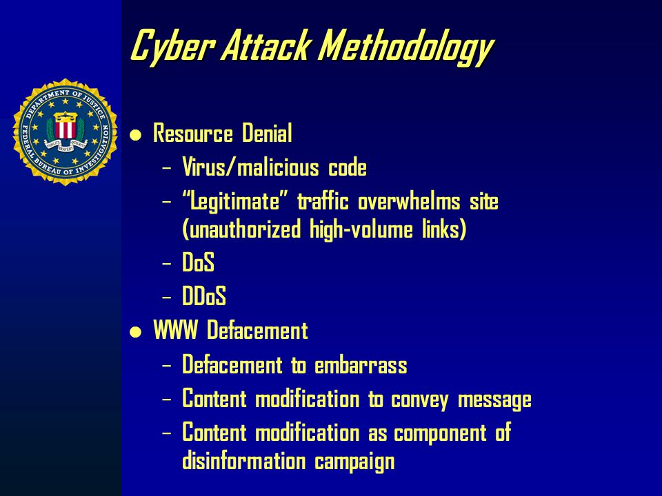Cyber Arsenal for Terrorists Internet newsgroups, web home pages, and IRC channels include: – Automated attack tools (Software Tools) Sniffers (captur