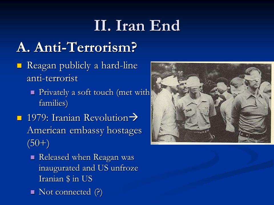 II.Iran End A. Anti-Terrorism.