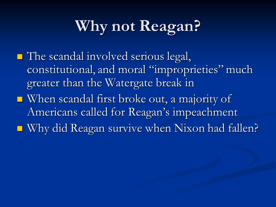 Why not Reagan.