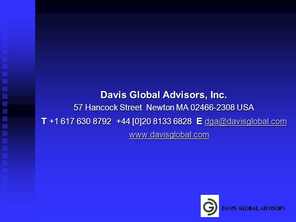 Davis Global Advisors, Inc.