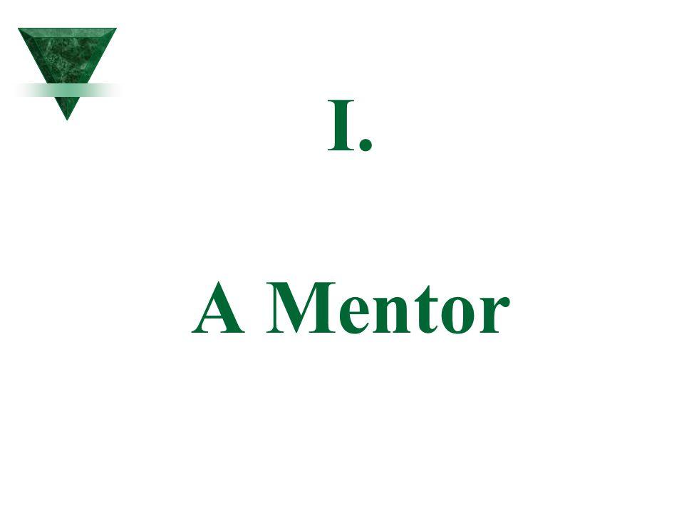 I. A Mentor