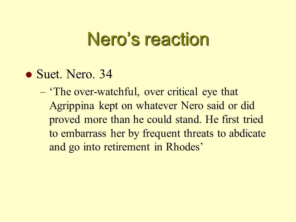 Nero's reaction l Suet. Nero.
